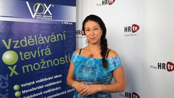 Profil Moniky Hasalové - terapeutky a lektorky společnosti 1. VOX
