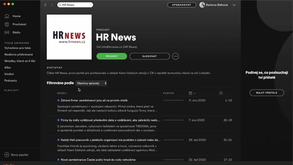 HR News nově na Spotify